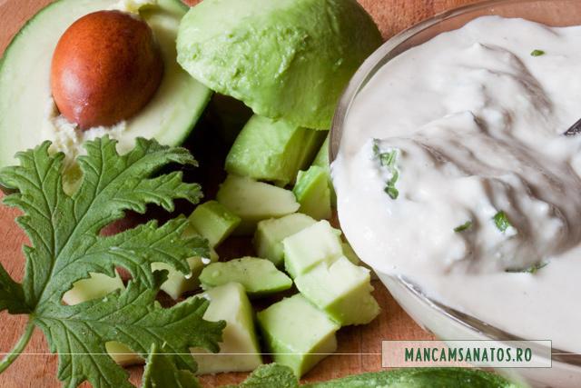 avocado, frisca de caju si muscata parfumata, pentru salata