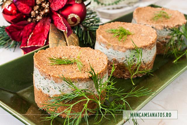 aperitiv festiv, cu ciuperci si hering