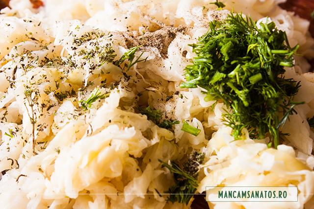 varza murata si mirodenii, pentru salata