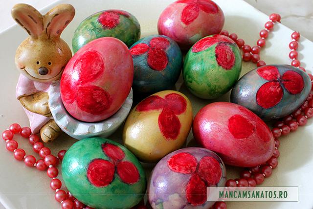 oua vintage, pentru masa Pascala