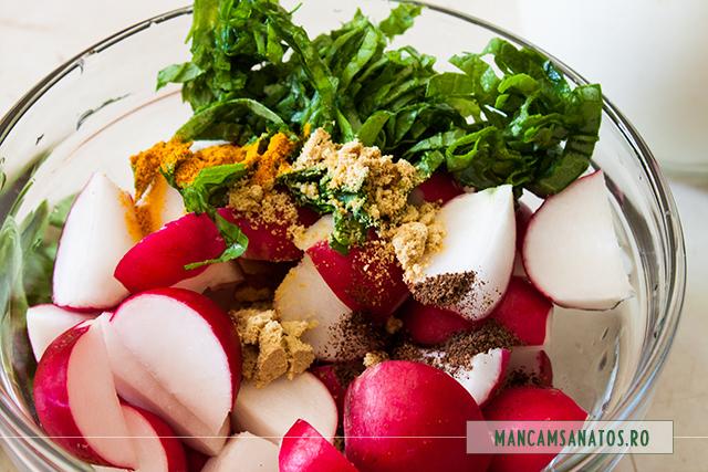 ridichi, mirodenii,frunze de ridichi, pentru salata