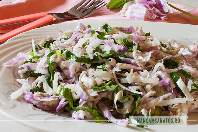 salata de varza si gulie, cu dressing de lamaie