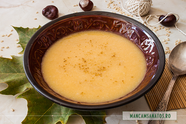 supa crema de orez integral, cu legume si anason