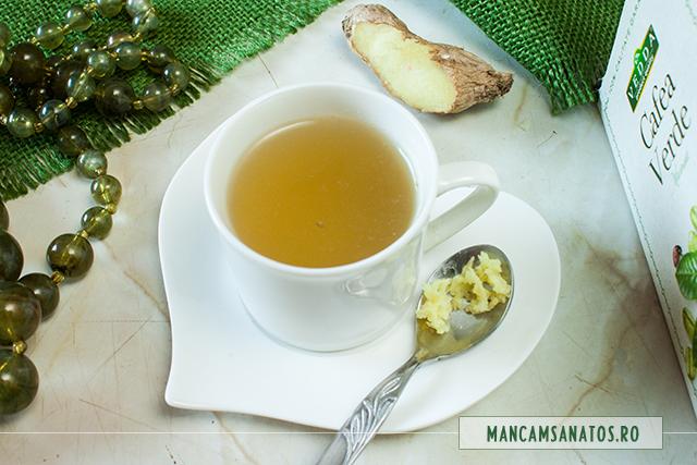 cafea verde, cu ghimbir
