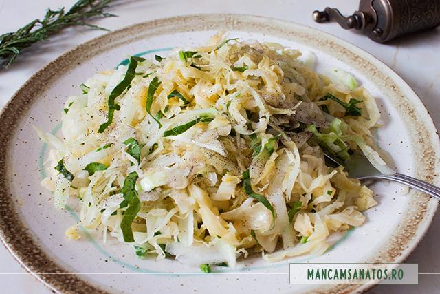 salata raw, de varza murata si gulie