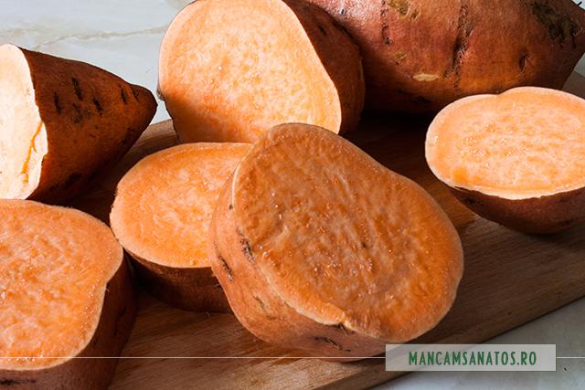 cartofi dulci, feliati, pentru supa