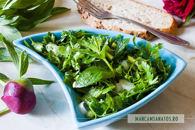 salata picanta cu menta si ulei de in