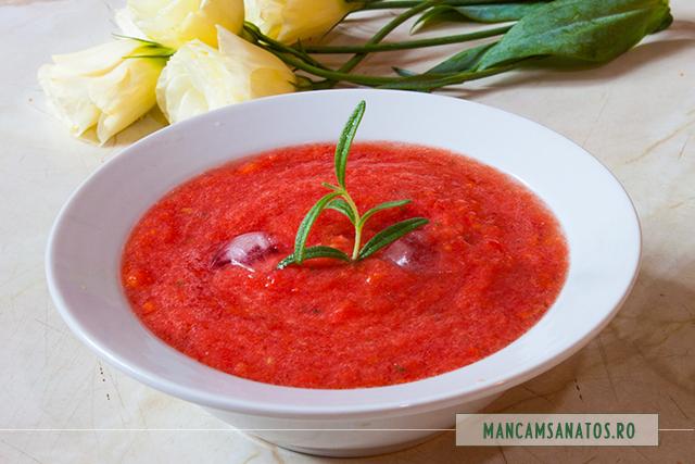 supa de rosii crude, cu gheata