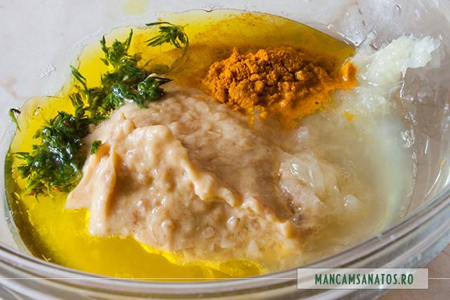 ingrediente  pentru dressing de mustar cu turmeric