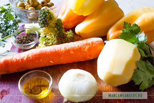 ingrediente pentru supa crema de ardei cruzi si masline verzi