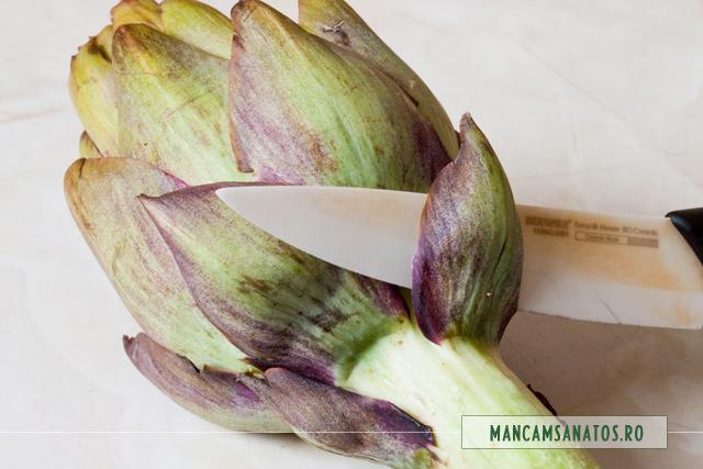 anghinare la curatat, pentru umplut cu legume conservate sanatos, de la Sun Food
