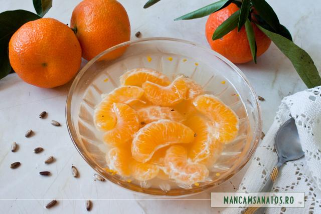 compot de mandarine, cu armurariu