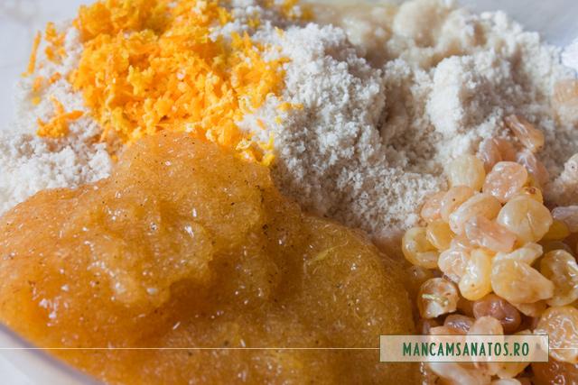 ingrediente crud vegetariene, cu tarate de psyllium in suc de portocale, pentru bomboane jeleu