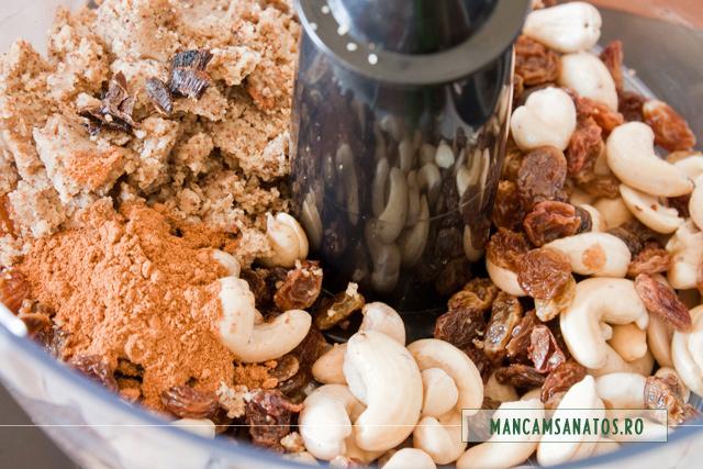 ingrediente pentru blat de pasca raw vegana