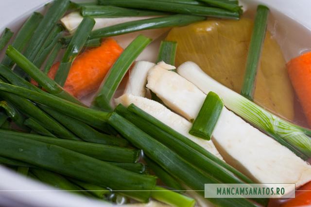 ceapa verde, morcovi, ardei, telina, pentru supa stevie
