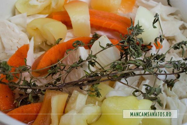 varza, ceapa, morcovi, cimbru, ardei, pentru supa crema