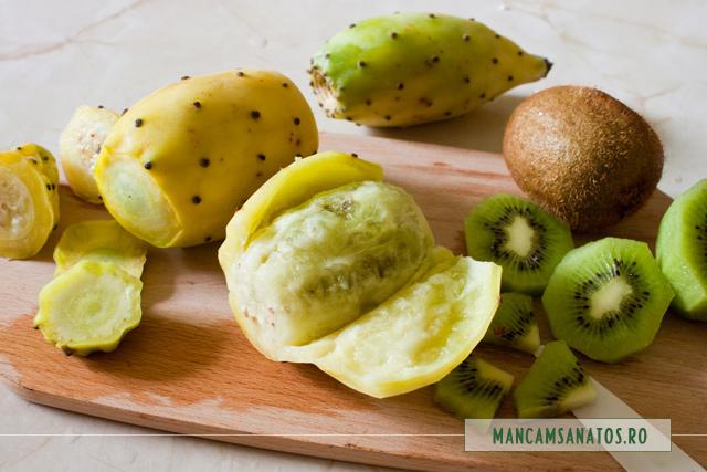 fructe de cactus si de kiwi, pentru salata