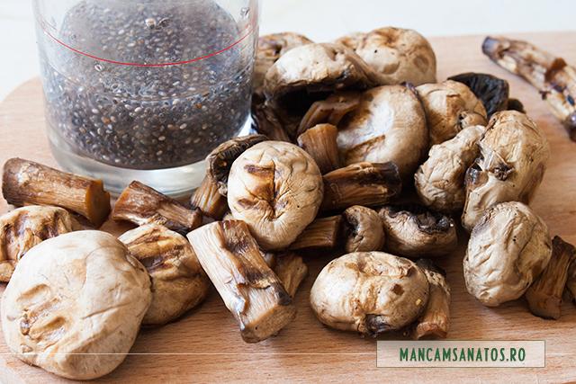 ciuperci si seminte de chia, pentru aperitiv festiv