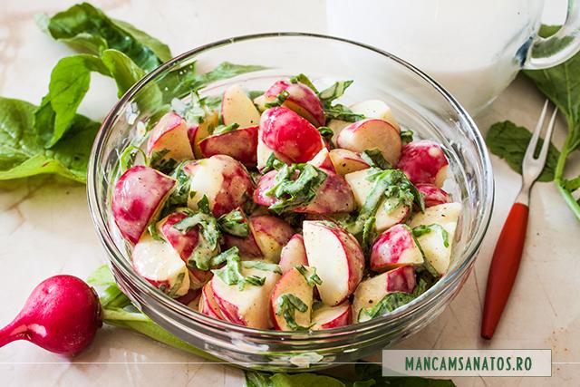 salata de ridichi, cu mirodenii si chefir