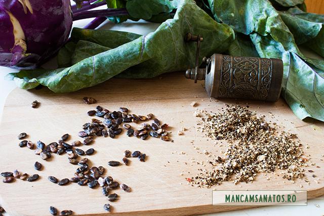 seminte de pepene rosu, pentru salata de gulie romaneasca
