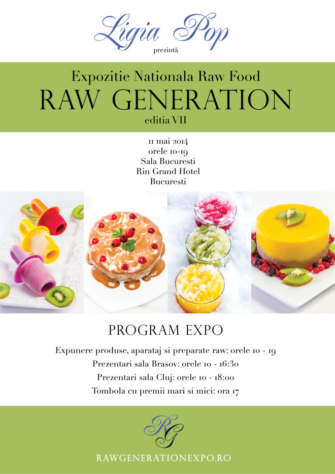 poster RAW GENARATION FOOD EXPO ed. a7-a Bucuresti, 11 mai 2014