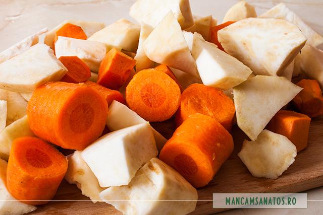 morcovi si telina, pregatite pentru piure
