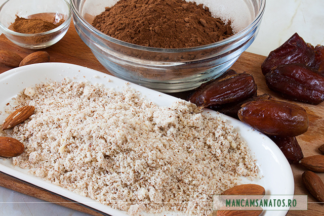 migdale rasnite si ingrediente pentru brownies