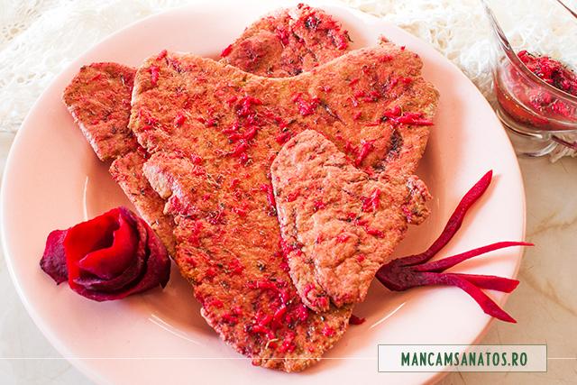 inimi integrale nedospite, cu sfecla rosie, pentru Dragobete