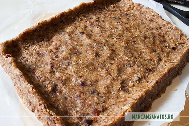 crusta pentru placinta rustica raw vegana, cu mere