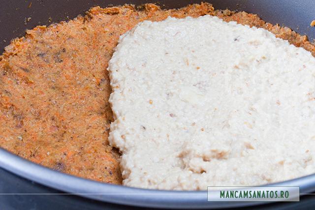 crema peste blat, pentru tort raw vegan, cu morcovi si crema de caju