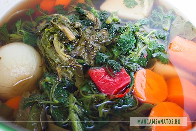 legume si verdeturi fierte, pentru supa crema