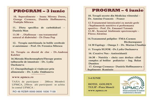program Congres nternational de Medicina Complementara si Alternativa