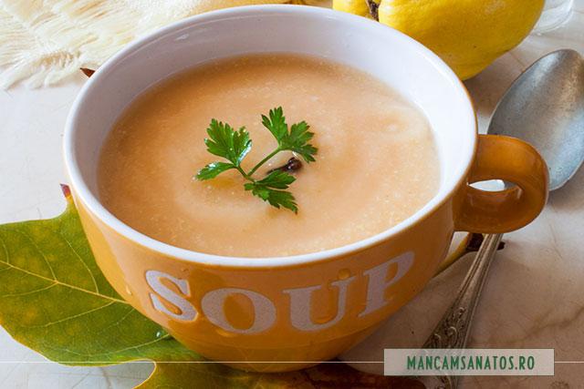 supa crema de gutui, cu patrunjel si cuisoare
