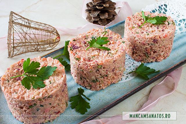 aperitiv festiv raw vegan, cu maioneza de nuci