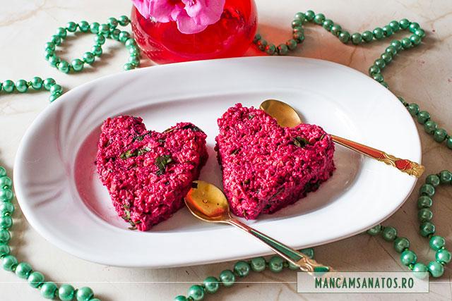 aperitiv raw vegan cu legume si fulgi de ovaz, pentru Valentine's Day