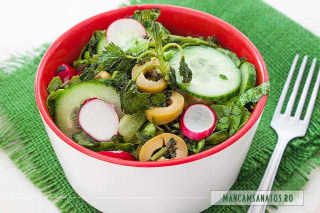 salata detoxifianta si hidratanta, cu urzici