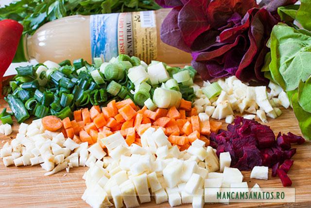 ingrediente pentru bors de radacinoase, cu loboda de primavara