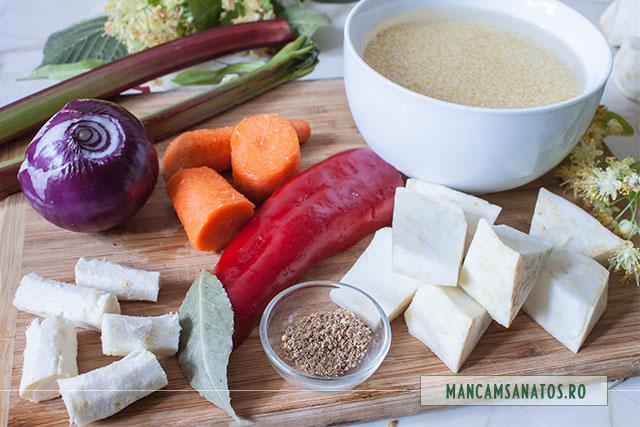 mei la hidratat si legume pregatite pentru fiert, pentru supa crema