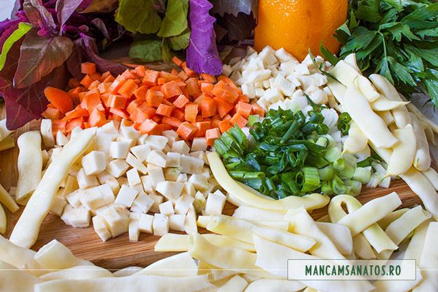 ingrediente bors vegetarian cu loboda si fasole pastai