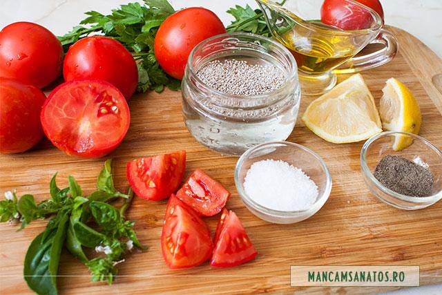 seminte de chia la inmuiat si alte ingrediente, pentru budinca aperitiv