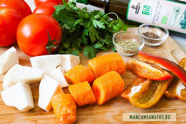ingrediente pentru supa crema de rosii, vegetariana