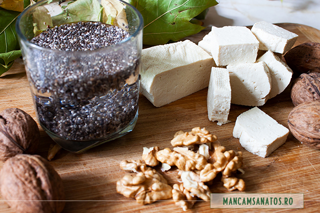 ingrediente pentru aperitiv raw vegan, proteic, cu seminte de chia