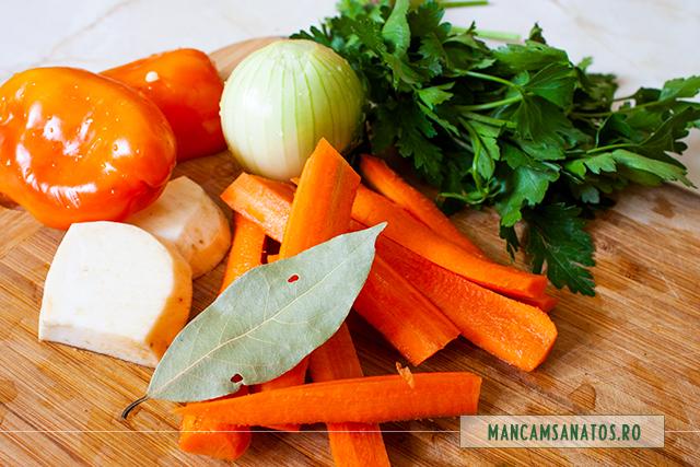 legume si patrunjel verde, pentru supa crema de fasole dungata boabe