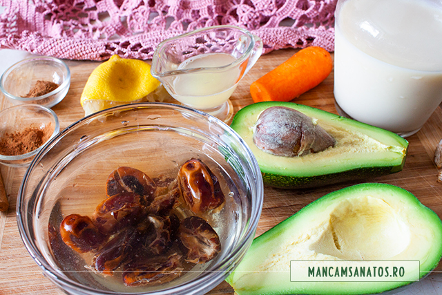 ingrediente pentru smoothie cremos, pentru sarbatori