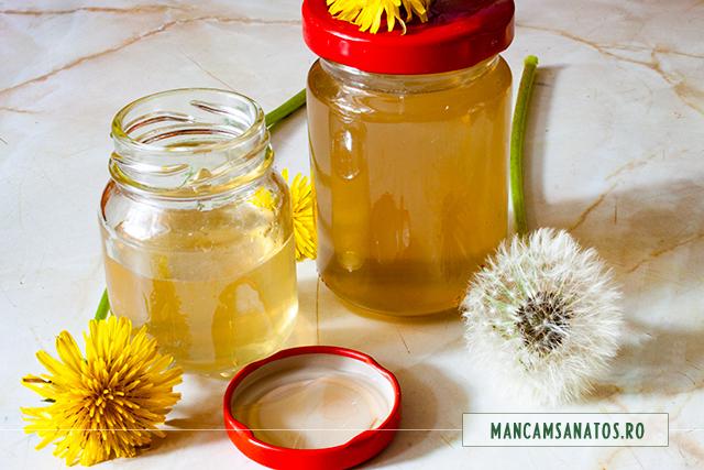 miere de albine, cu infuzie macerata din flori de papadie