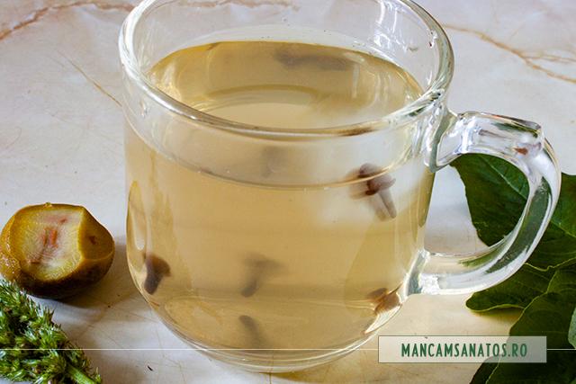 ceai de piersici verzi si stir, cu gheata si cuisoare, in misacre