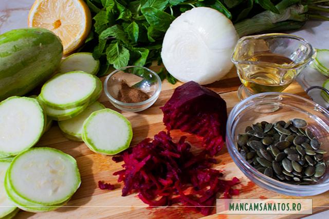 ingredinete pentru platou raw vegan cu seminte de dovleac si fru