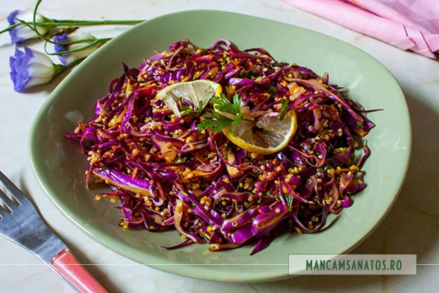 quinoa cu varza rosie si mirodenii