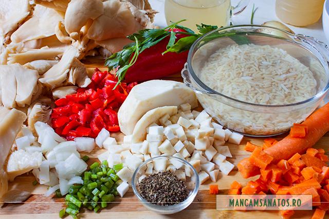 ingrediente pentru bors de ciuperci pleurotus