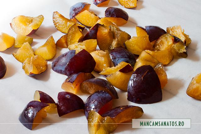 prune pregatite pentru copt, pentru budinca cu amarant